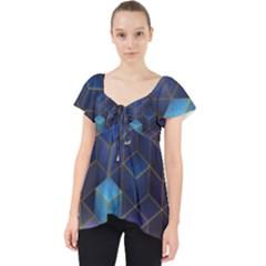 Cube Cubic Design 3d Shape Square Lace Front Dolly Top