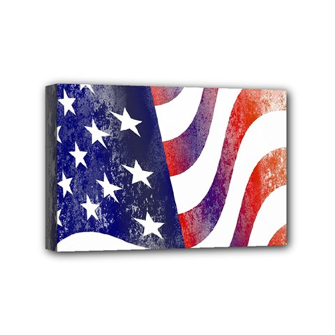 Usa Flag America American Mini Canvas 6  X 4  by Celenk
