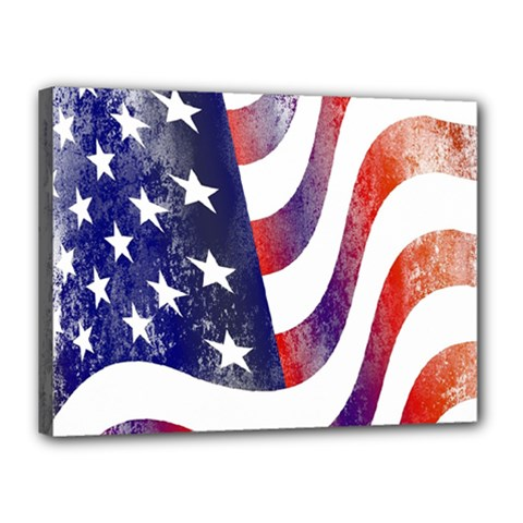 Usa Flag America American Canvas 16  X 12  by Celenk