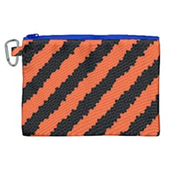 Black Orange Pattern Canvas Cosmetic Bag (xl) by Celenk