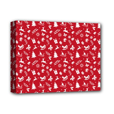 Red Christmas Pattern Deluxe Canvas 14  X 11  by patternstudio