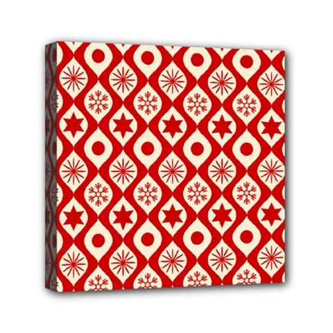 Ornate Christmas Decor Pattern Mini Canvas 6  X 6  by patternstudio