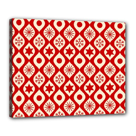 Ornate Christmas Decor Pattern Canvas 20  X 16  by patternstudio