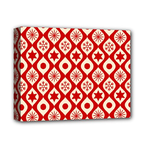 Ornate Christmas Decor Pattern Deluxe Canvas 14  X 11  by patternstudio