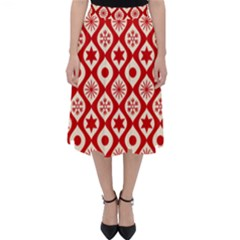 Ornate Christmas Decor Pattern Folding Skater Skirt by patternstudio
