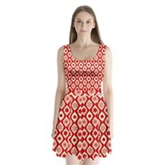 Ornate Christmas Decor Pattern Split Back Mini Dress