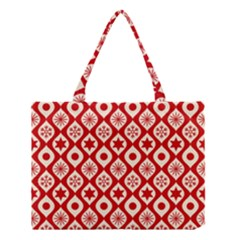 Ornate Christmas Decor Pattern Medium Tote Bag