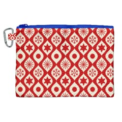 Ornate Christmas Decor Pattern Canvas Cosmetic Bag (xl) by patternstudio