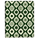 Green Ornate Christmas Pattern Apple iPad Mini Flip Case View1