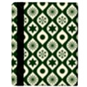 Green Ornate Christmas Pattern Apple iPad Mini Flip Case View3