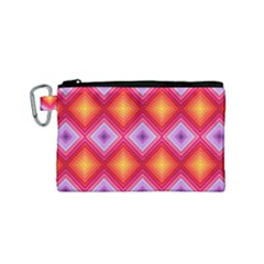 Texture Surface Orange Pink Canvas Cosmetic Bag (small)