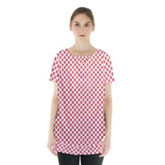 Sexy Red And White Polka Dot Skirt Hem Sports Top by PodArtist