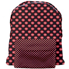 Sexy Red And Black Polka Dot Giant Full Print Backpack