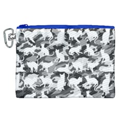 Black And White Catmouflage Camouflage Canvas Cosmetic Bag (xl) by PodArtist