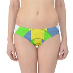 Fabric 3d Geometric Circles Lime Hipster Bikini Bottoms