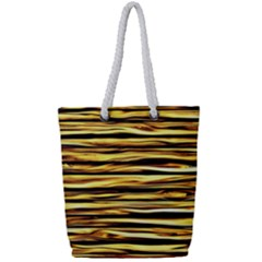Texture Wood Wood Texture Wooden Full Print Rope Handle Tote (small) by Celenk