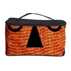 Fabric Halloween Pumpkin Funny Cosmetic Storage Case by Celenk