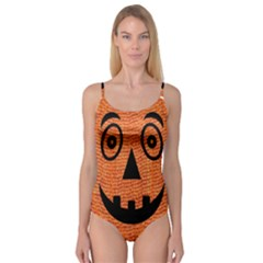 Fabric Halloween Pumpkin Funny Camisole Leotard  by Celenk