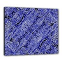 Texture Blue Neon Brick Diagonal Canvas 24  x 20  View1