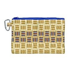 Textile Texture Fabric Material Canvas Cosmetic Bag (large) by Celenk