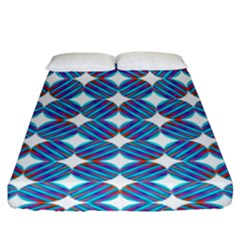 Geometric Dots Pattern Rainbow Fitted Sheet (king Size) by Celenk