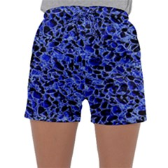 Texture Structure Electric Blue Sleepwear Shorts