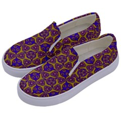 Sacred Geometry Hand Drawing 2 Kids  Canvas Slip Ons by Cveti