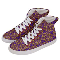 Sacred Geometry Hand Drawing 2 Men s Hi Top Skate Sneakers by Cveti