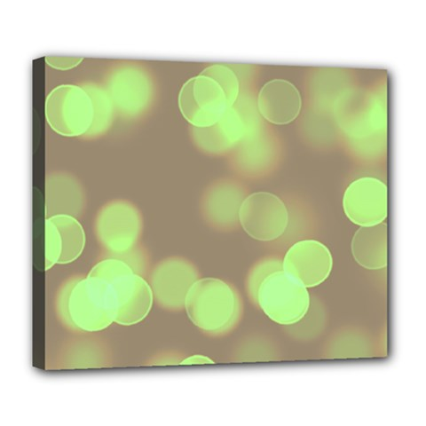 Soft Lights Bokeh 4c Deluxe Canvas 24  X 20   by MoreColorsinLife