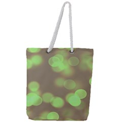 Soft Lights Bokeh 4c Full Print Rope Handle Tote (large)