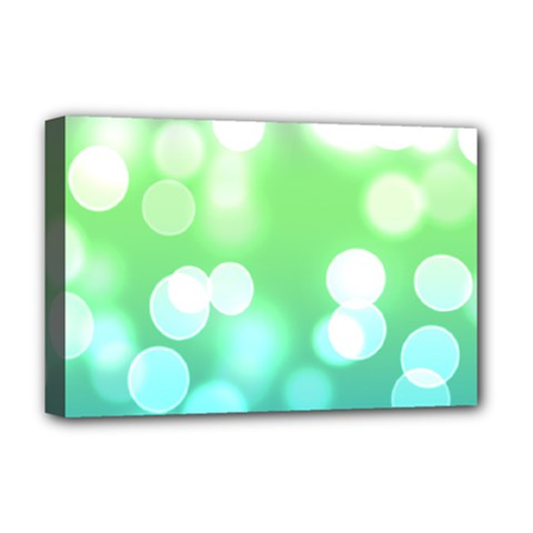 Soft Lights Bokeh 2 Deluxe Canvas 18  X 12   by MoreColorsinLife