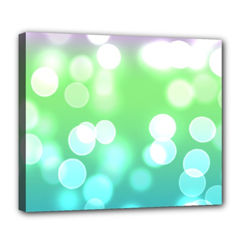 Soft Lights Bokeh 2 Deluxe Canvas 24  X 20   by MoreColorsinLife