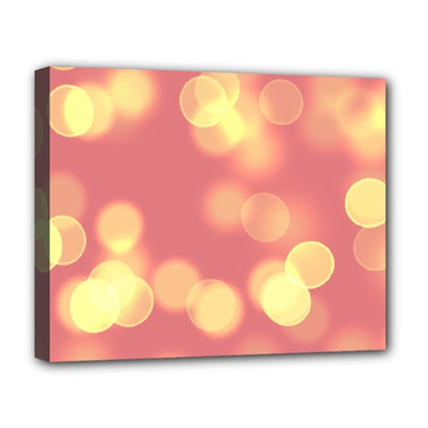 Soft Lights Bokeh 4b Deluxe Canvas 20  X 16   by MoreColorsinLife