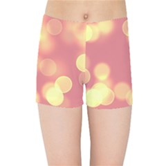 Soft Lights Bokeh 4b Kids Sports Shorts