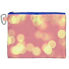 Soft Lights Bokeh 4b Canvas Cosmetic Bag (xxl) by MoreColorsinLife