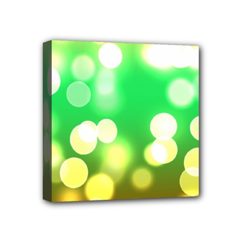 Soft Lights Bokeh 3 Mini Canvas 4  x 4