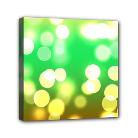 Soft Lights Bokeh 3 Mini Canvas 6  x 6