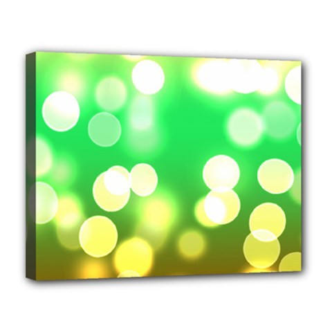 Soft Lights Bokeh 3 Canvas 14  x 11