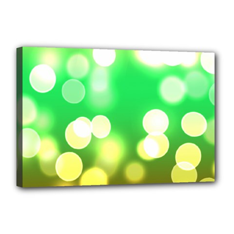Soft Lights Bokeh 3 Canvas 18  x 12