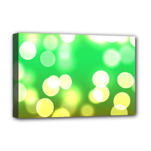 Soft Lights Bokeh 3 Deluxe Canvas 18  x 12