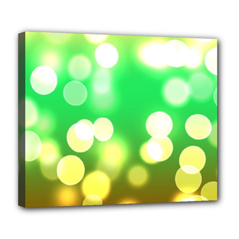 Soft Lights Bokeh 3 Deluxe Canvas 24  x 20