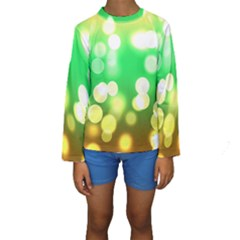 Soft Lights Bokeh 3 Kids  Long Sleeve Swimwear