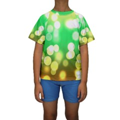 Soft Lights Bokeh 3 Kids  Short Sleeve Swimwear