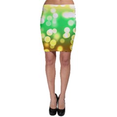 Soft Lights Bokeh 3 Bodycon Skirt