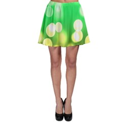 Soft Lights Bokeh 3 Skater Skirt