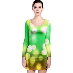 Soft Lights Bokeh 3 Long Sleeve Bodycon Dress