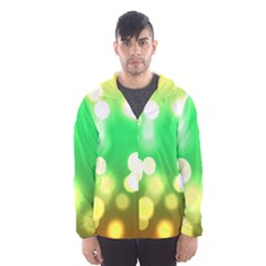 Soft Lights Bokeh 3 Hooded Wind Breaker (Men)