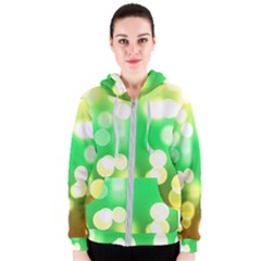 Soft Lights Bokeh 3 Women s Zipper Hoodie