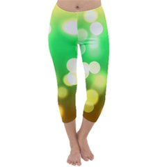 Soft Lights Bokeh 3 Capri Winter Leggings