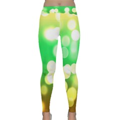 Soft Lights Bokeh 3 Classic Yoga Leggings